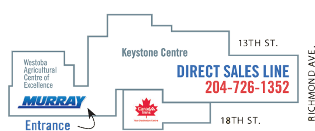 Map of Murray Auto Centre Indoor Sale at Keystone Centre